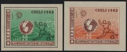 Albanien 1962 - Mi-Nr. Block 11 & 12 ** - MNH - Fussball / Soccer (III) - Albanien