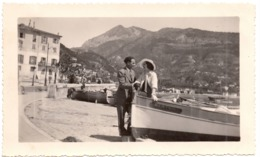 Menton Mai 1931 Photo Port Barque Plage - Lieux