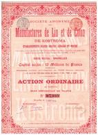 Action Ancienne - Sté Anonyme Des Manufacture De Lin Et De Coton De Kostroma - Titre De 1899 - - Rusia