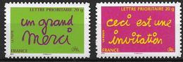France 2005 Timbres Adhésifs Neufs N°52A/52B Messages Cote 28,00 Euros - France