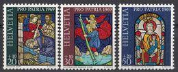 HELVETIA - SUISSE - SVIZZERA - 1969 - Lotto Di 3 Valori Nuovi MNH: Yvert 835/837; Pro Patria. - Nuovi