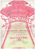 Ancienne Action - Compagnie Houillère Métallurgique Et Industrielle De Lomovatka (Donetz - Titre De 1899 - Rusia