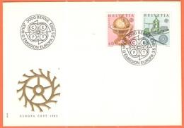 SVIZZERA - SUISSE - HELVETIA - 1983 - Europa Cept - BERNE - FDC - Europa-CEPT