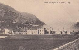 SWITZERLAND-SCHWEIZ-SUISSE-SVIZZERA-VIEGE-USINE ELETRIQUE DE LA LONZA-CARTOLINA VIAGGIATA IL 26-9-1913 - VS Valais