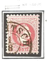 AUSTRIA. 1867. NO INDENTS. USED - Oblitérés