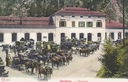 SWITZERLAND-SCHWEIZ-SUISSE-SVIZZERA-GOSCHENEN-BAHNHOF-GARE-STAZIONE-CARTOLINA NON VIAGGIATA ANNO 1906-1910 - UR Uri
