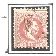 AUSTRIA. 1867. TOP LEFT CENTER EMPTY.  USED - Oblitérés