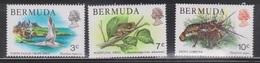 BERMUDA Scott # 363, 366, 368 MH - Bird, Frog & Lobster - Bermuda