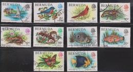 BERMUDA Scott # 363//74 Used - Birds, Fish & Butterfly - Not Full Set - Bermuda