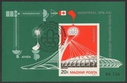 Ungarn 1976 - Mi-Nr. Block 119 B Gest / Used - Olympia Montreal - Hungary