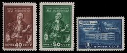 Russia / Sowjetunion 1949 - Mi-Nr. 1311-1313 * - MH - Lomonossow-Museum - 1923-1991 UdSSR