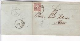 1860 COVER AUSTRIA OSTRREICH CIRCULEE TO AVIO - BLEUP - Storia Postale