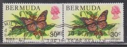 BERMUDA Scott # 373 Used Pair - Butterfly - Bermuda