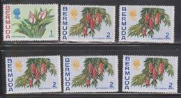 BERMUDA Scott # 255-6 MNH - Flowers - Duplication - Bermuda