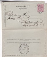 1864 ENTIERN STATIONERY AUSTRIA OSTERREICH. CIRCULEE TO LEITMERITZ - BLEUP - Entiers Postaux