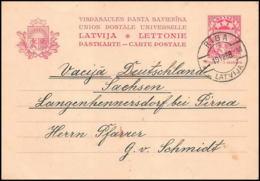 2499/ Lettonie (Latvia) Entier Stationery Carte Postale (postcard) N°10 RIGA 1938 - Lettonie