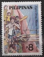 FILIPINAS 1992 Anti-drugs Campaign. USADO - USED. - Filipinas
