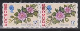 BERMUDA Scott # 322 Used Pair - Flowers - Bermuda