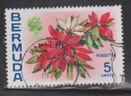 BERMUDA Scott # 259b Used - Flowers - Watermark Upright - Bermuda