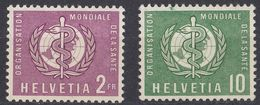 HELVETIA - SUISSE - SVIZZERA - 1957 - Lotto Di 2 Valori Nuovi MNH: Yvert Servizio 388 E 392. - Servizio
