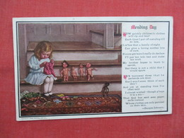 Girl Mending Her Dolls--Gollywog       >   Ref  3457 - Children
