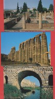Lot 3 Postcards - Merida - Bridge, Alcazaba, Aqueduc, House Of Mthraeo - Romans Ruins - Spain - Mérida