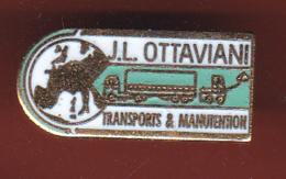 59400-Pin's. Groupe JL Ottaviani .transport,manutention .Marseille. - Transportation