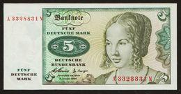 5 DM Deutsche Mark Germany 1960 XF+ - 20 Deutsche Mark
