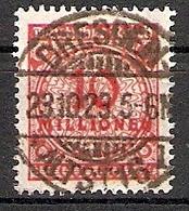 Deutsches Reich Mi.Nr. 318 A O 10 Mio M Zentrischer Vollstempel Dresden (2015338) - Alemania