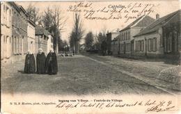 1 Postkaart Kapellen Cappellen Ingang Van Het Dorp C1904 Zondagse Kerkgangers Uitgever F.Hoelen N°71 - Kapellen