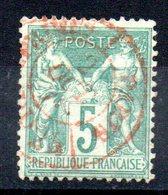 FRANCE - YT N° 64 Cachet Rouge - Cote: 75,00 € - 1876-1878 Sage (Type I)