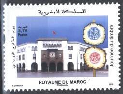 MOROCCO STAMP DAY JOURNEE DU TIMBRE LA POSTE 2015 - Morocco (1956-...)