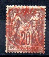 FRANCE - YT N° 67 Cachet Rouge - Cote: 40,00 € - 1876-1878 Sage (Type I)
