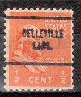 USA Precancel Vorausentwertung Preo, Locals Kansas, Belleville 704 - Vereinigte Staaten
