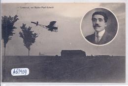 AVIATION- LABEILLE- SUR BIPLAN PAUL SCHMITT - Aviateurs