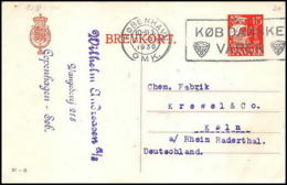3163/ Danemark (Denmark) Entier Stationery Carte Postale (postcard) 1930 - Postal Stationery