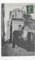 AJACCIO EN 1908 - MAISON BONAPARTE AVEC PERSONNAGES - BEAU CACHET - CPA VOYAGEE - Ajaccio