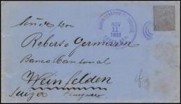 3497/ Salvador Entier Stationery Enveloppe (cover) N°29 Pour Weinfelden Allemagne (germany) 1893 - El Salvador