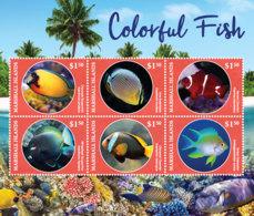 Marshall Islands   2019  Fauna Colorful Fish  I201901 - Marshall Islands