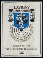 Lavigny 1987, 100 Ans De La Société De Tir - Etiquettes