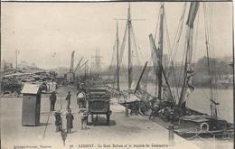 Carte Postale Ancienne De Lorient Le Quai Rohan Et Le Bassin De Commerce - Lorient
