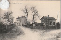 18 - Très Belle Carte Postale Ancienne  De  CHERY   La Gare - France