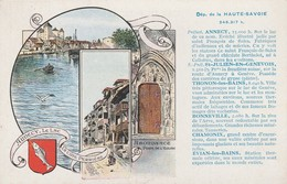 74 - ANNECY - Département De La Haute Savoie (carte Publicitaire Pastilles Valda) - Annecy