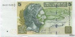 Tunisie 5 Dinars (P92) 2008 (Pref: C/2) -UNC- - Tunisie