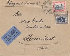 South Africa 1934: Air Mail Flugpost Windhoek To Kiris-West-Keetmansshoop - Südafrika (1961-...)
