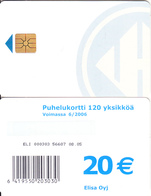 FINLAND - Elisa Telecard 20 Euro(for Use Only In Prison), CN : ELI 000303, Tirage 10000, 08/05, Used - Finland