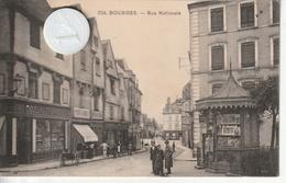 18 - Très Belle Carte Postale Ancienne  De  BOURGES  Rue Nationale - Bourges