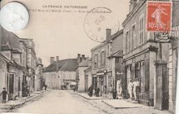 18 - Très Belle Carte Postale Ancienne  De  JOUET SUR L'AUBOIS   Rue Du Commerce - France