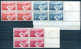Neusaar - 252-254 4er-Blöcken & Mi 291 Auf Umschlag Ungebr.(*) Ohne Gummi / Without Gum /sans Gomme - Luftpost