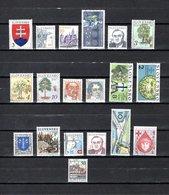 Eslovaquia   1993  .-  Y&T  Nº   129-130/131-132-133-134/136-137-139-141-142-143-144-145-146-147-148-149 - Eslovaquia